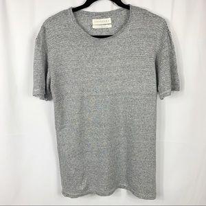 Essentials Zara Linen Striped Short Sleeve T-Shirt